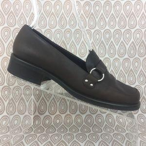 Franco Sarto Flex Womens Brown Loafers SZ 9 M S139